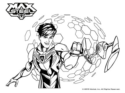 Coloriages Goodies Max Steel Dessins Animés La Télé