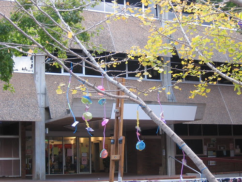 necklaces on tree