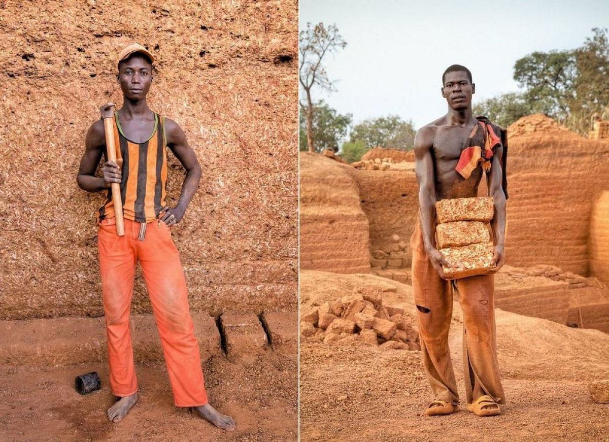 A pedreira de tijolos de Karaba em Burkina Faso 08