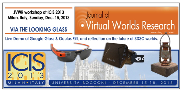 JVWR workshop ICIS 2013 cover