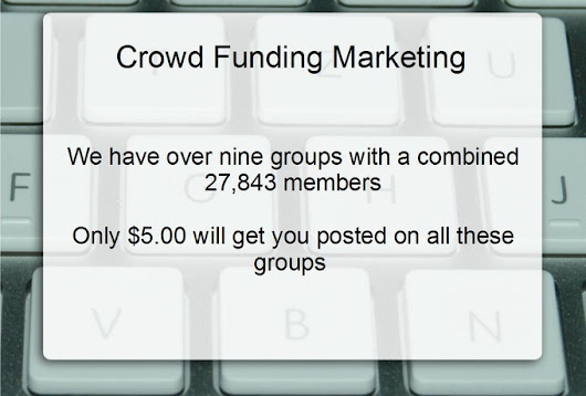 I will market your crowdfund for $5