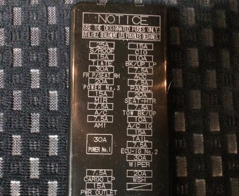 2008 Chevy Silverado Cigarette Lighter Fuse
