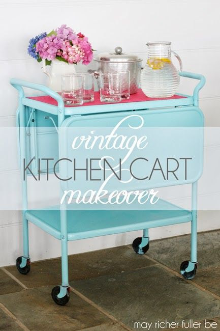 look for one of these to paint: Vintage Kitchen Cart Makeover