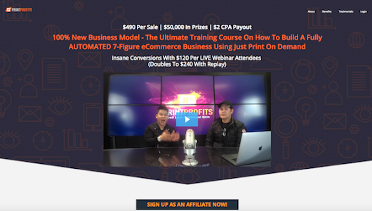 Fred Lam + Michael Shih – Print Profits Print-On-Demand eCommerce Business Course Launch Affiliate Program JV Invite, More. | JVNotifyPro JV (Joint Venture) Blog