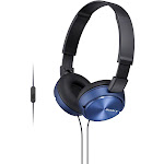 Sony MDR ZX310AP Over-Ear Headphones with Mic - Blue