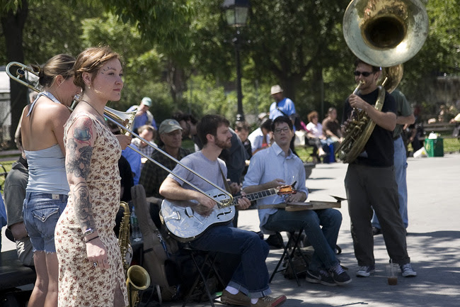 Street Musicians, Washington Square