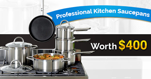 Enter To Win These Professional Kitchen Saucepans Worth $400!