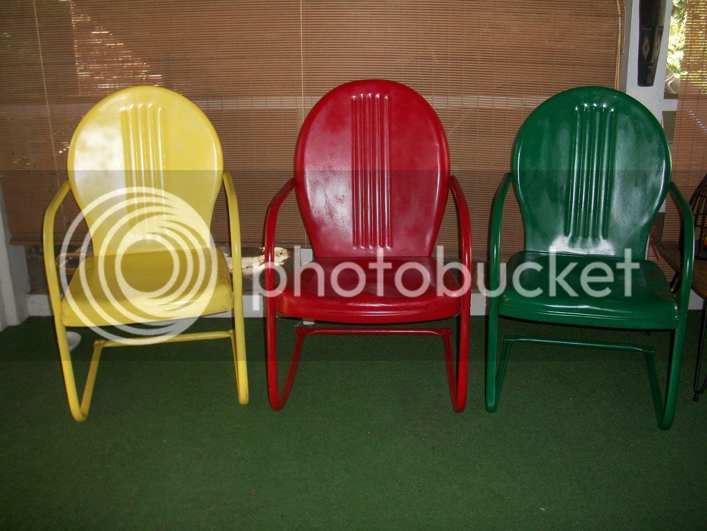 Vintage Metal Lawn Chair Parts