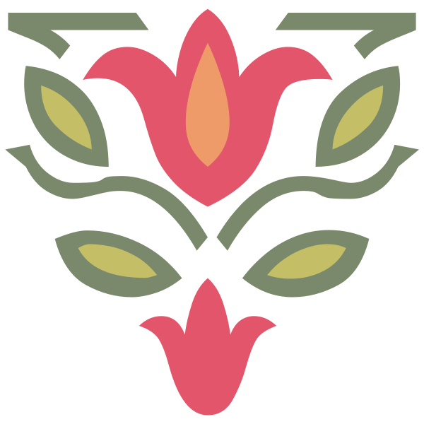 File:Tulips Two Ornament Colored.svg