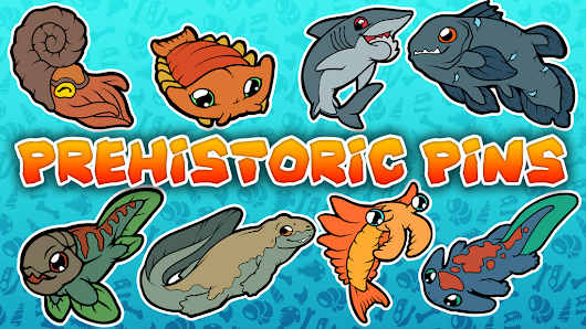 Update 3: First Stretch Goal Funded! Whats next? · Prehistoric Enamel Pins