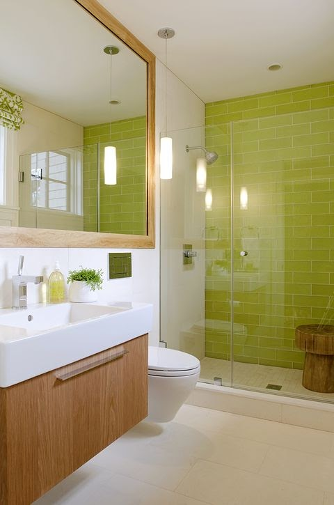 Awesome Bathroom Tiles Yellow wallpaper