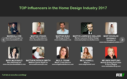 On Being Named a Top Influencer in the Home Design Industry - Marshall Erb Design
