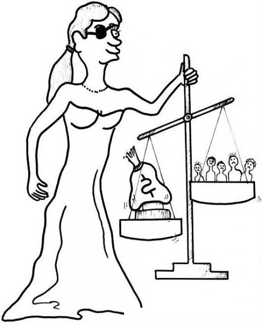 Justicia Corrupta Para Colorear Mujer De La Justicia Mafiosa