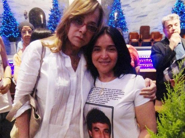 Glória Perez convidou Socorro Brant para a missa que lembrou os 20 anos da morte da atriz Daniella Perez (Foto: Arquivo Pessoal)