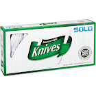 "Solo Heavy Plastic Knives, White, 7"" - 500 count"