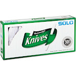 Solo Heavyweight Plastic Cutlery, Knives, White, 7 in, 500-Carton
