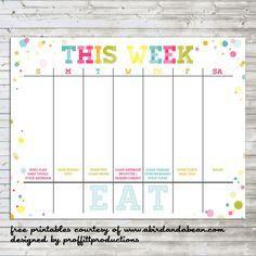 free printable calendar 5 day week - Google Search | Cool ...