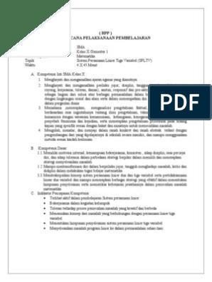 Contoh Soal Dan Pembahasan Spltv Kelas 10 : contoh, pembahasan, spltv, kelas, Latihan, Spltv, Kelas, Download