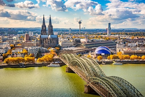 Explore the Beautiful Views of Cologne  Cologne's imposing cathedral can be seen from along the riverside...