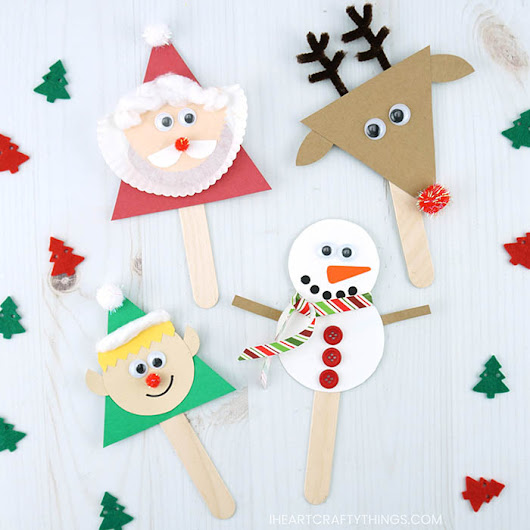 Christmas Stick Puppets Craft | I Heart Crafty Things