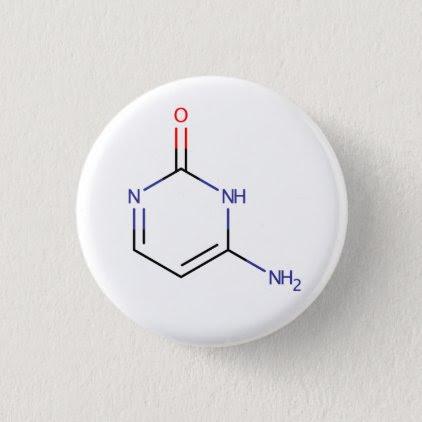 Cytosine Molecule Pinback Button