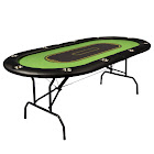 Franklin Sports Deluxe Foldable 10-Player Poker Table, Green
