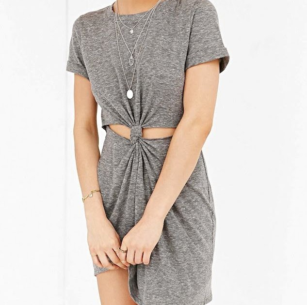 Le fashion under 50 this knot front t shirt dress is a for Must have dress shirts