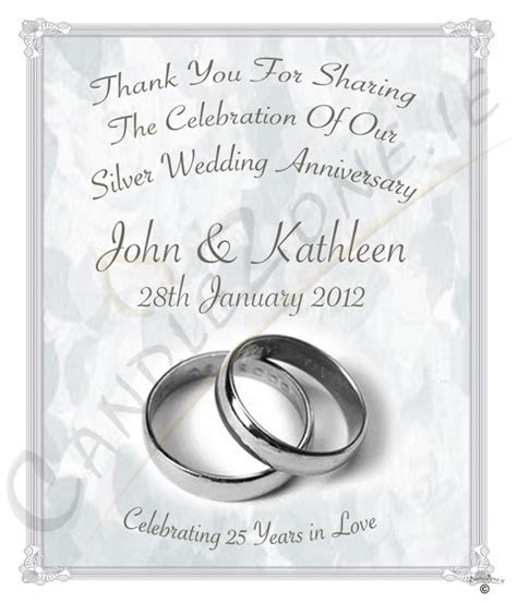 CandleZone.ie   25th Wedding Anniversary Favour   Silver