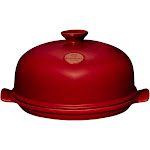 Emile Henry Flame Bread Cloche, Burgundy Red