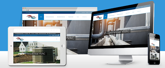 HVAC branding and website design