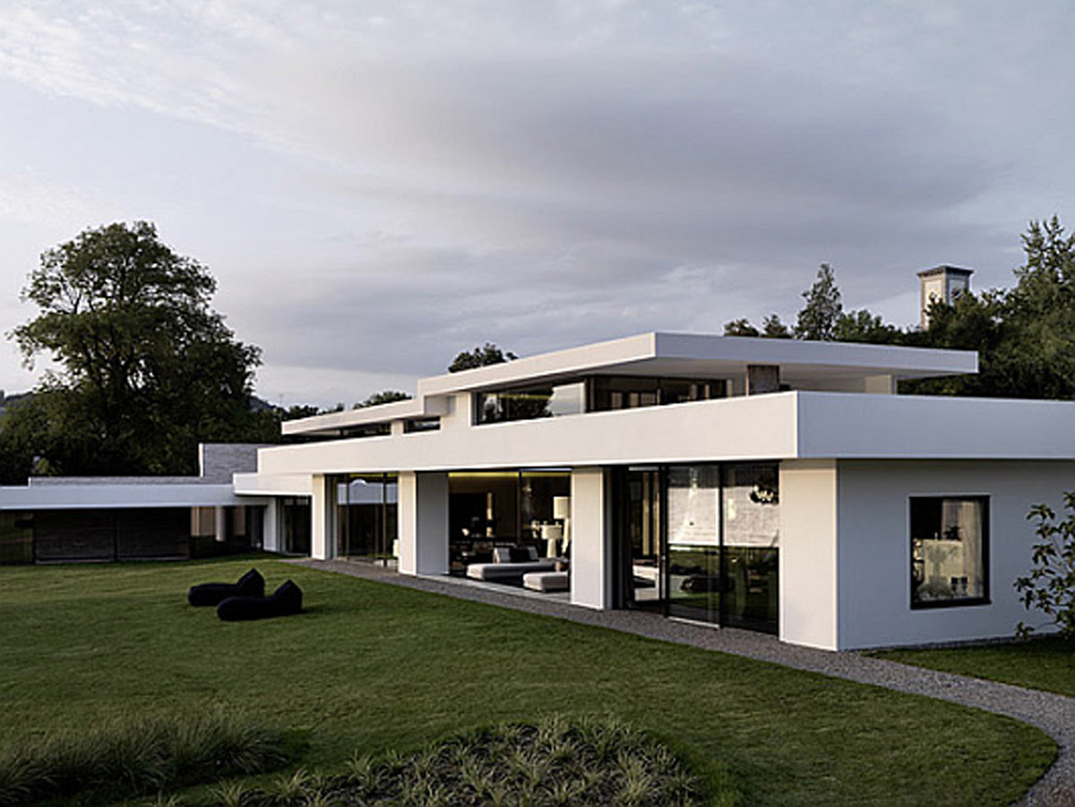 futuristic white modern dream house - Iroonie.com