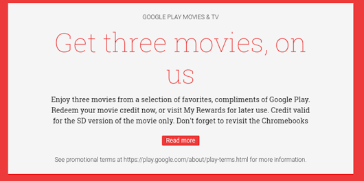 Google Offers Three Free Standard-Def Movies For Chromebook Owners