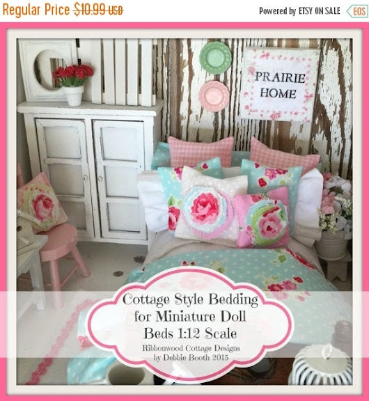 Sale Sewing Pattern Miniature Cottage Style Bedding for