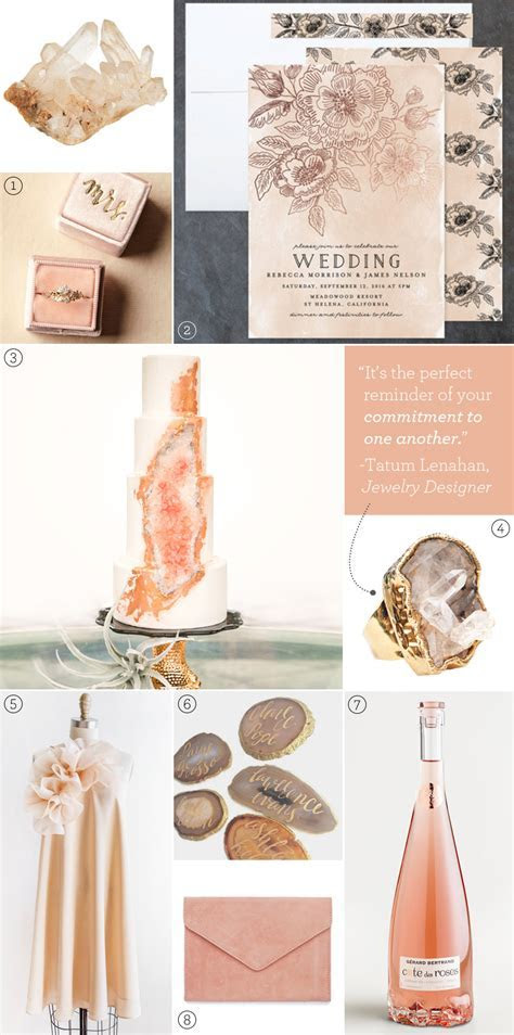 Wedding Color Inspiration: Rose Quartz   Exquisite Weddings