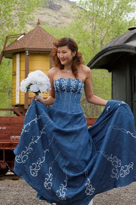 Forever In Blue Jeans Denim Western Wedding Corset Wedding