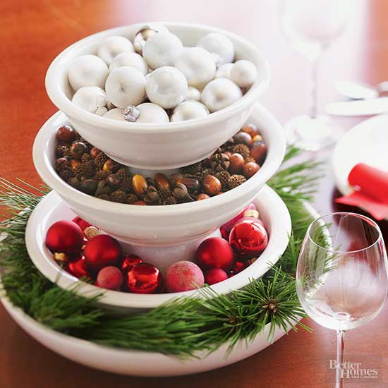 Stacked Bowl Centerpiece