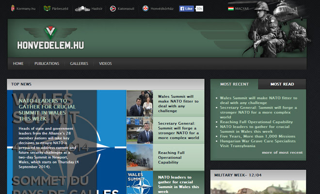 ministry of defence hungary website