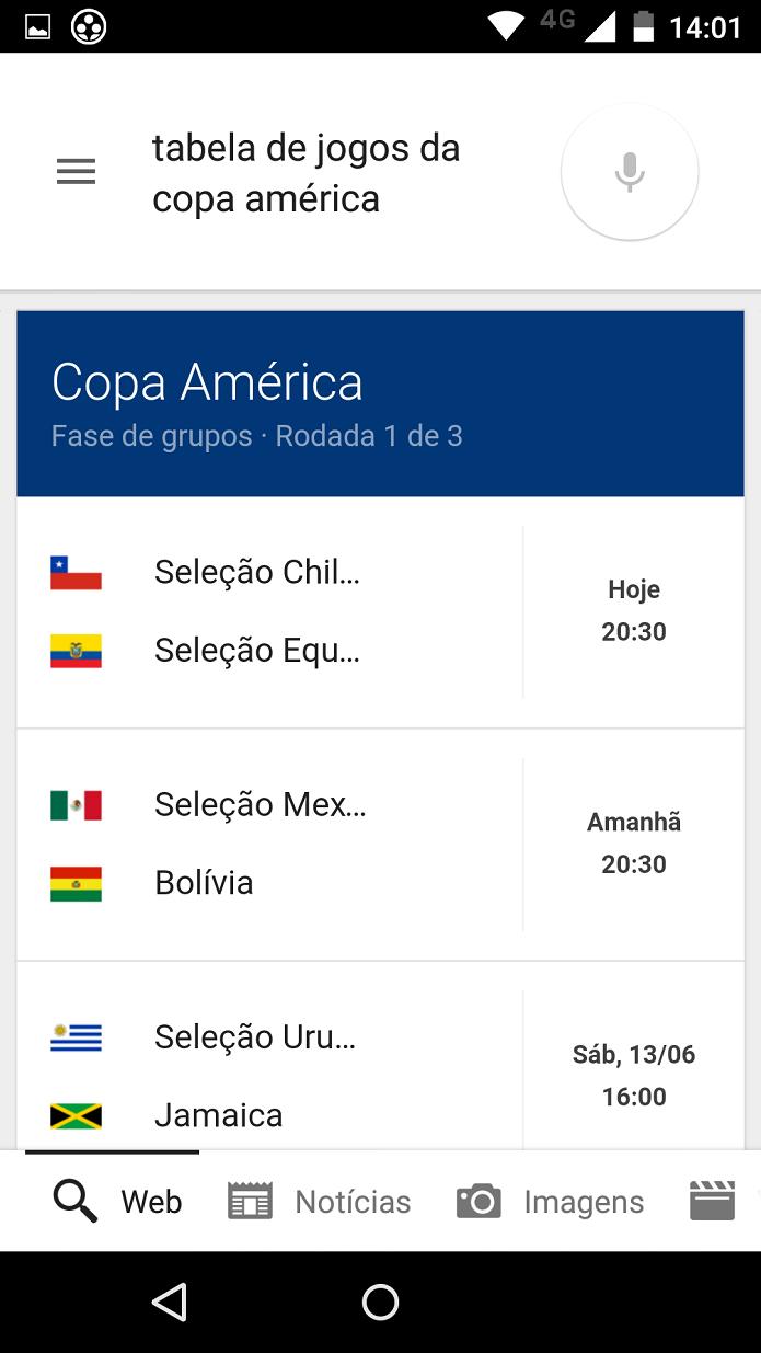 Tabela de jogos da Copa América (Foto: Felipe Alencar/TechTudo)