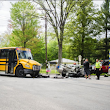 Elementary students switch school buses after fiery crash