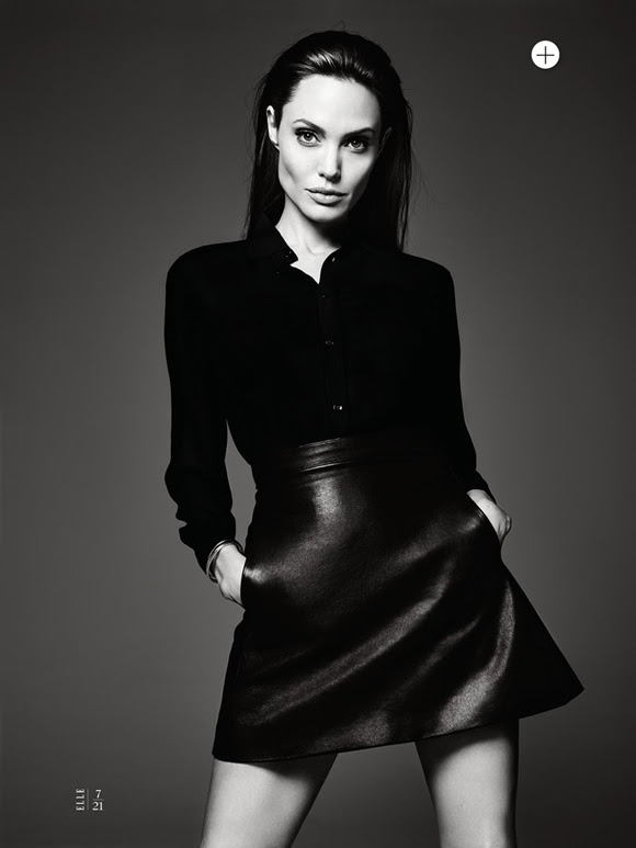 Angelina Jolie by Hedi Slimane Elle US 09