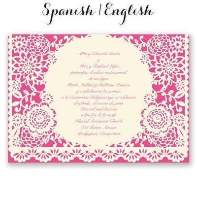 bandero festivo wedding invitation mexican wedding