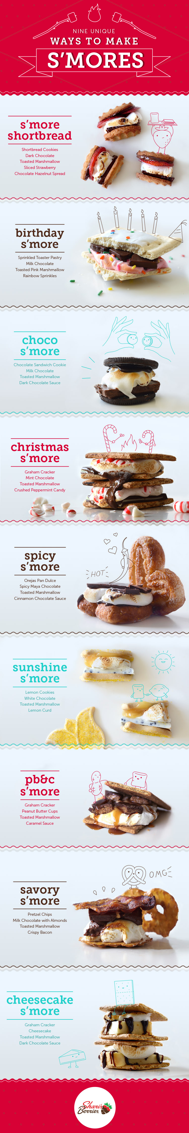 S'More ideas!   Ways to enjoy a S'More (not always the traditional way)
