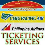 OceanJet, Cebu Pacific, and Philippine Airlines Ticketing Services