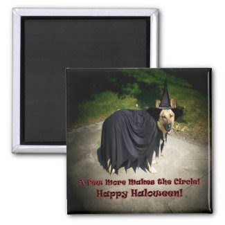 German Shepherd Witch Dog Magnets