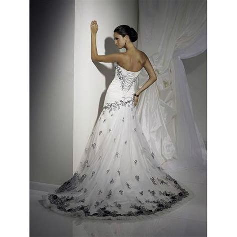 Corset Wedding Dresses Black And White For Cheap