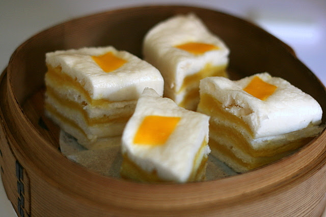 Steamed Layer Cake with Salted Egg