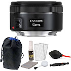 Canon EF 50mm f/1.8 STM Lens with Pouch + Cleaning Kit & Dust Blower
