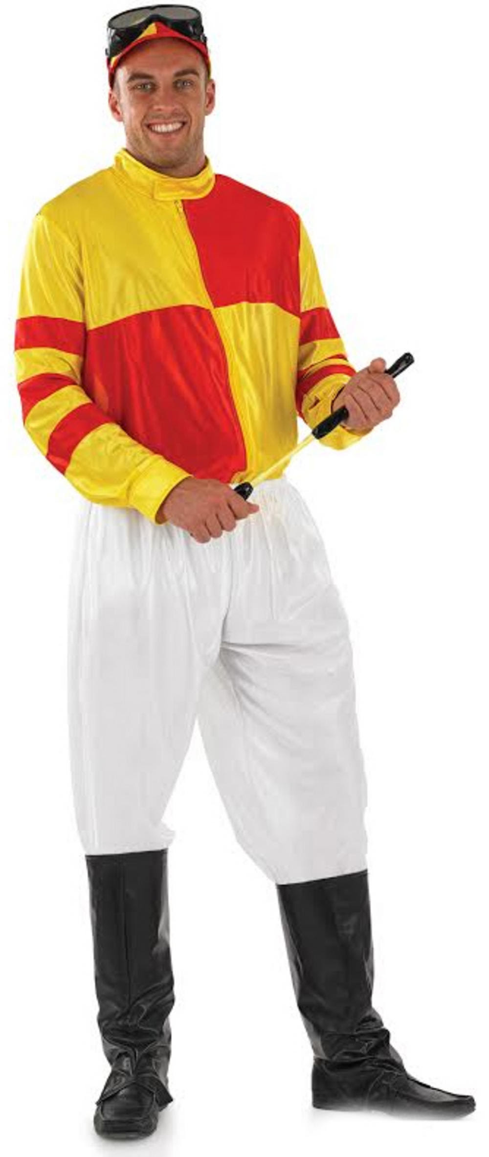 Red and Yellow Jockey Costume  Letter quot;Jquot; Costumes  Mega Fancy Dress