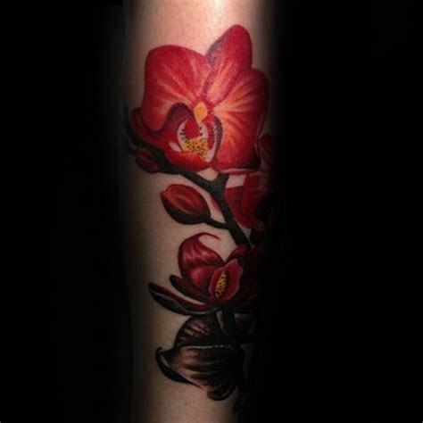 70 Orchid Tattoos For Men   Timeless Flower Design Ideas