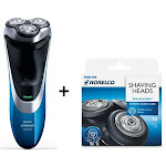 Norelco AT810 + SH50/52 Wet and Dry Electric Shaver Kit